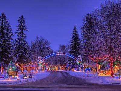 Photograph - Christmas Village by Larry Capra