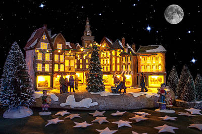 Photograph - Christmas Village by Semmick Photo