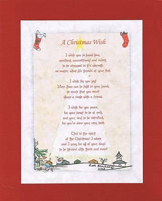 Digital Art - Christmas Wish by Ruth Renshaw