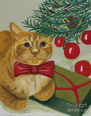 Painting - Christmas With Rufus by Annette M Stevenson