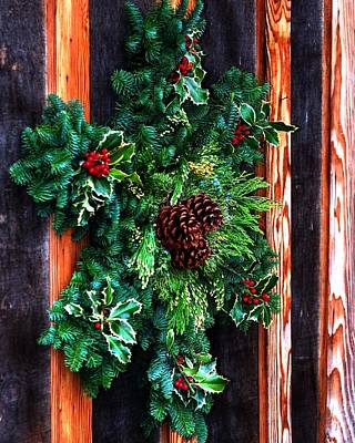 Jerry Sodorff Royalty-Free and Rights-Managed Images - Christmas Wreath 20474 by Jerry Sodorff