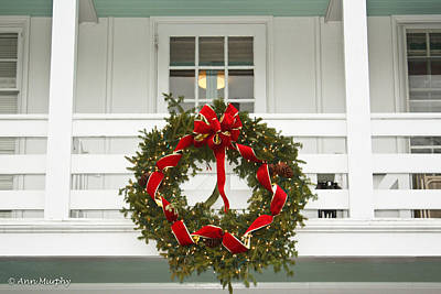 Photograph - Christmas Wreath by Ann Murphy