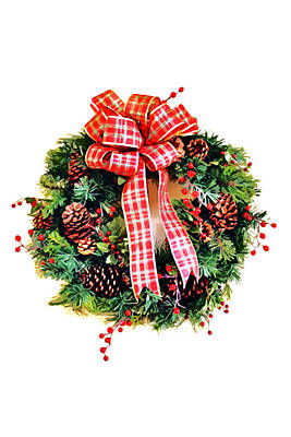 Photograph - Christmas Wreath by Art Block Collections
