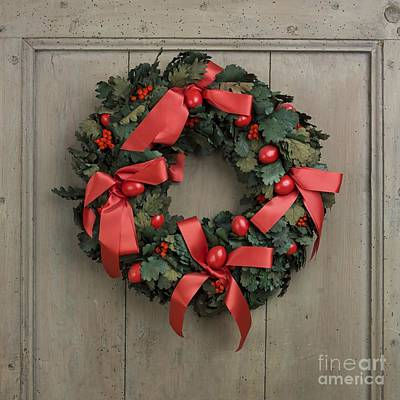 Christmas Wreath Art Print by Bernard Jaubert