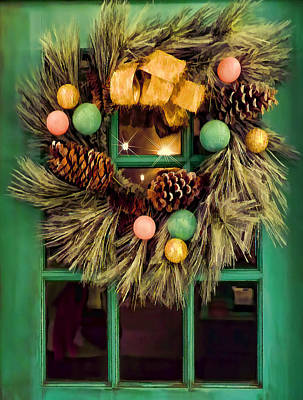 Photograph - Christmas Wreath by Nora Martinez