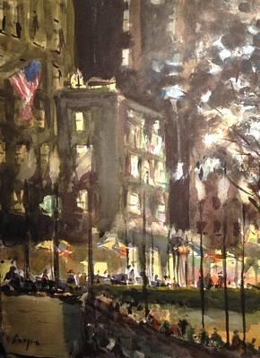 Christmastime At Rockefeller Center Original by Chris Coyne