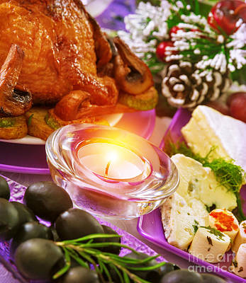 Banquet Photograph - Christmastime Banquet by Anna Om
