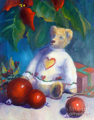 Painting - Christms Bear by Carolyn Jarvis