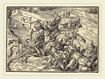 Four Horsemen Drawing - Christoph Murer, The Four Horsemen Of The Apocalypse by Litz Collection