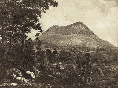 1753 Drawing - Christoph Nathe German, 1753 - 1806, Landeskrone Mountain by Quint Lox