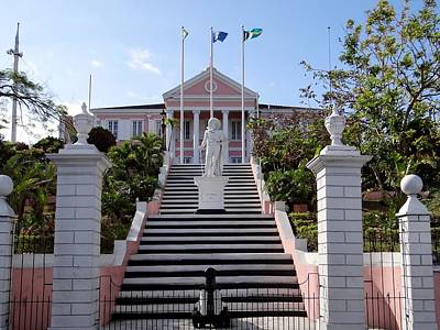 Photograph - Christopher Columbus Bahamas Government House by Keith Stokes