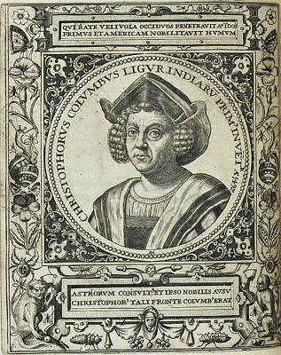 Christopher Columbus Photograph - Christopher Columbus by British Library