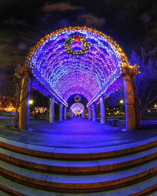 Winter Scene Photograph - Christopher Columbus Park - Boston by Joann Vitali