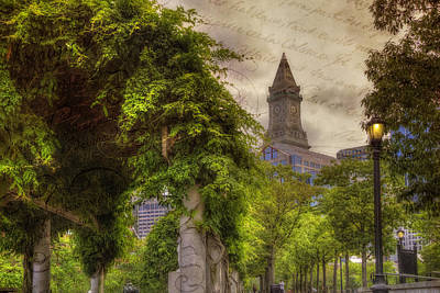 Photograph - Christopher Columbus Park - Boston North End by Joann Vitali
