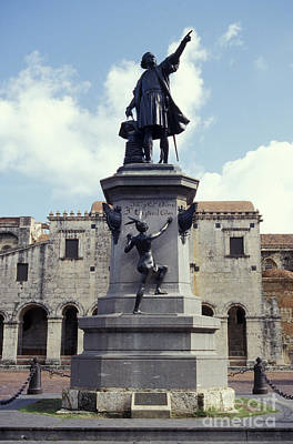 Photograph - Christopher Columbus Statue Santo Domingo by John  Mitchell