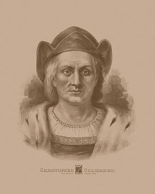 Explorer Drawing - Christopher Columbus by War Is Hell Store