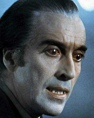Dracula Photograph - Christopher Lee In Scars Of Dracula  by Silver Screen