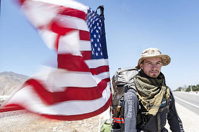 Christopher Senopole Walks Across America For The Wounded Warrior Project Art Print