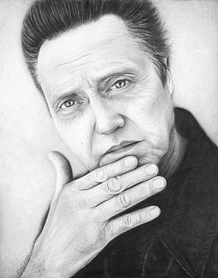 Black And White Art Drawing - Christopher Walken by Olga Shvartsur