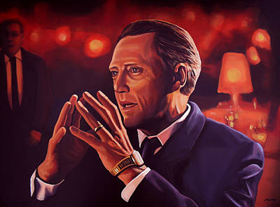 Cans Painting - Christopher Walken Painting by Paul Meijering