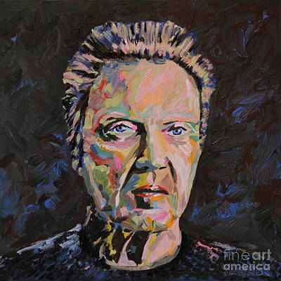 Landmarks Painting Royalty Free Images - Christopher Walken Portrait Royalty-Free Image by Robert Yaeger
