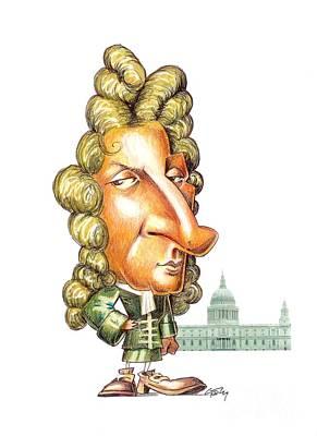 Christopher Wren, English Architect Art Print
