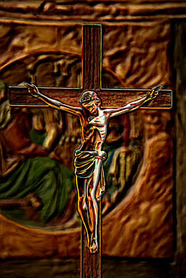 Christs Crucifixion  Art Print by Bruce Nutting