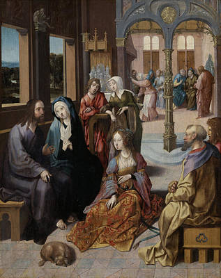 Martha Drawing - Christ's Second Visit To The House Of Mary And Martha by Litz Collection