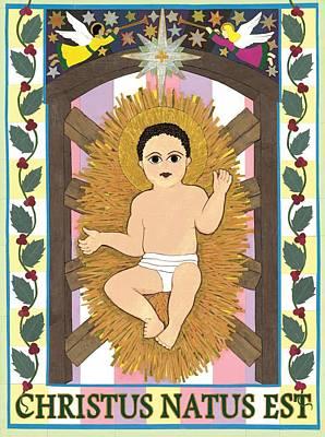 Incarnation Painting - Christus Natus Est by David Raber