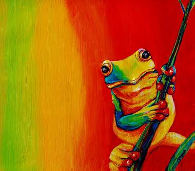 Chroma Frog Art Print by Jean Cormier