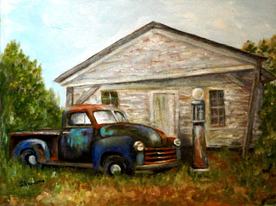 Chromatic Chevy Art Print by Sandra Nardone