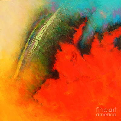 Painting - Fantasies In Space Series Painting. Chromatic Vibrations by Robert Birkenes