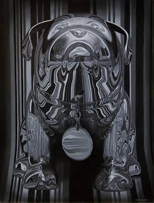 Chrome Painting - Chrome Dog by Tony Chimento