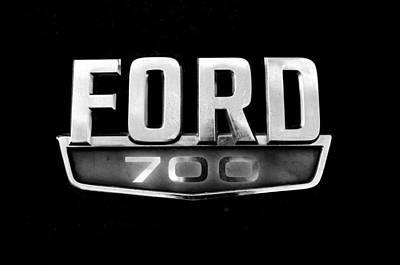 Photograph - Chrome Ford 700 Emblem by Tom Druin