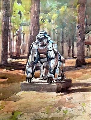Mount Vernon Painting - Chrome Gorilla by Spencer Meagher