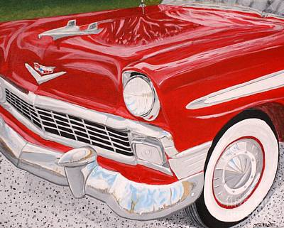 Painting - Chrome King 1956 Bel Air by Vicki Maheu