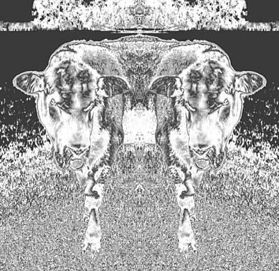 Photograph - Chromed Bulls by Belinda Lee