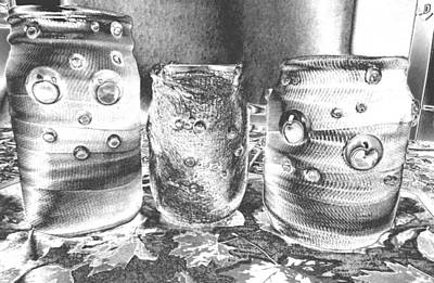 Photograph - Chromed Halloween  Mummies by Belinda Lee