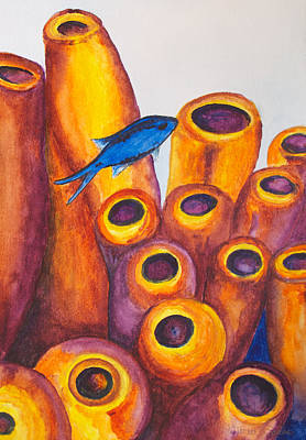 Photograph - Chromis Blue by Patricia Beebe