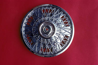 Hubcap Wall Art - Photograph - Chromium Hubcap by Richard Treptow
