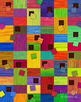 Abstract Montage Digital Art - Chronic Tiling by David K Small
