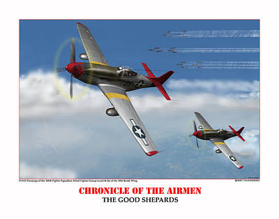 Chronicle Of The Airmen The Good Shepards Art Print by Jerry Taliaferro
