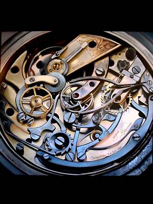Complicated Painting - Chronometer A Study In The Mechanics Of Time by Paul Gilbert Baswell