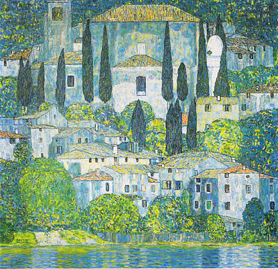 Bright Colors Drawing - Chruch In Cassone by Celestial Images