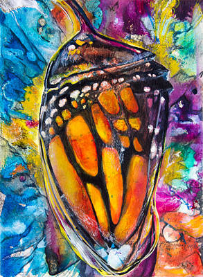 Monarch Butterfly Painting - Chrysalis by Patricia Allingham Carlson