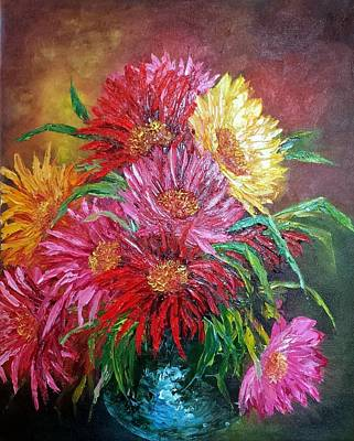 Painting - Chrysanthemum by Katia Aho