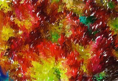 Photograph - Chrysanthemum Painting by Charles Muhle