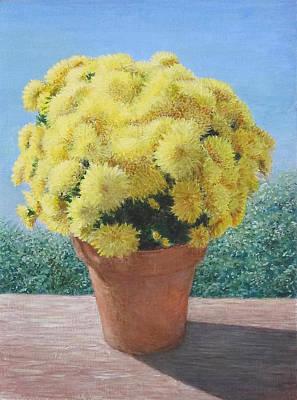Joyful Painting - Chrysanthemum Sun by Ellie Waligurski