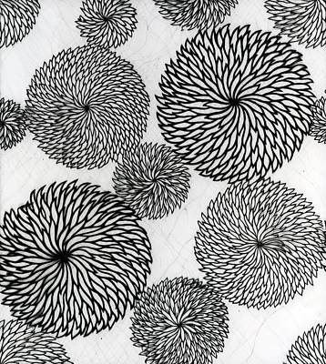 Chrysanthemums Art Print by Japanese School