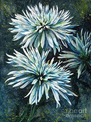 Painting - Chrysanthemums by Zaira Dzhaubaeva